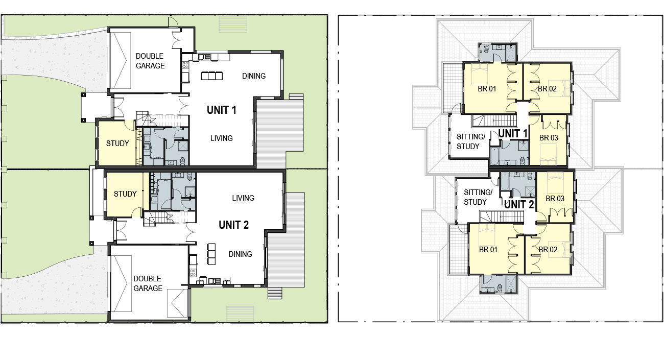 french style-floorplan